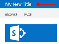 Change SharePoint 2013 Title
