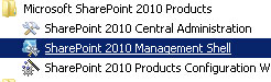 SharePoint 2010 Management Shell