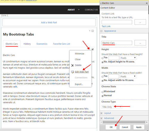 Dynamic Bootstrap Tabs for SharePoint