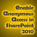 Enable Anonymous Access