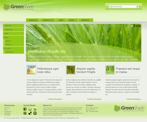 GreenShade Homepage