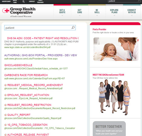 Search Group Health Cooperative