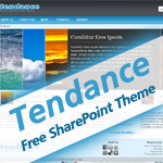 Tendance - Free SharePoint Theme