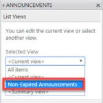 How to hide SharePoint Announcements past the expiration date